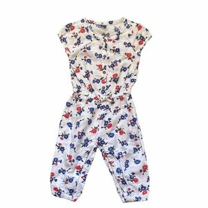 Old navy floral cinched waist jumper 18-24 months